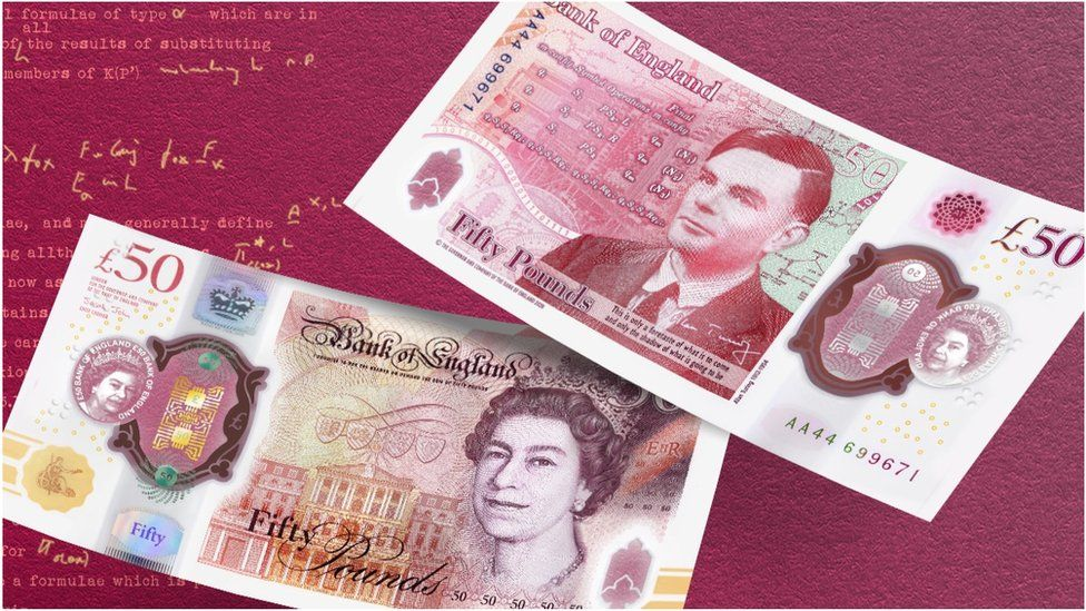 The £50 note now features Alan Turing