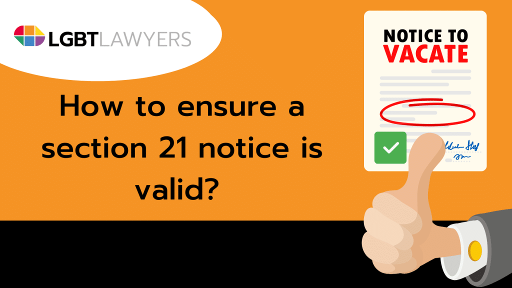 How to ensure a section 21 notice is valid
