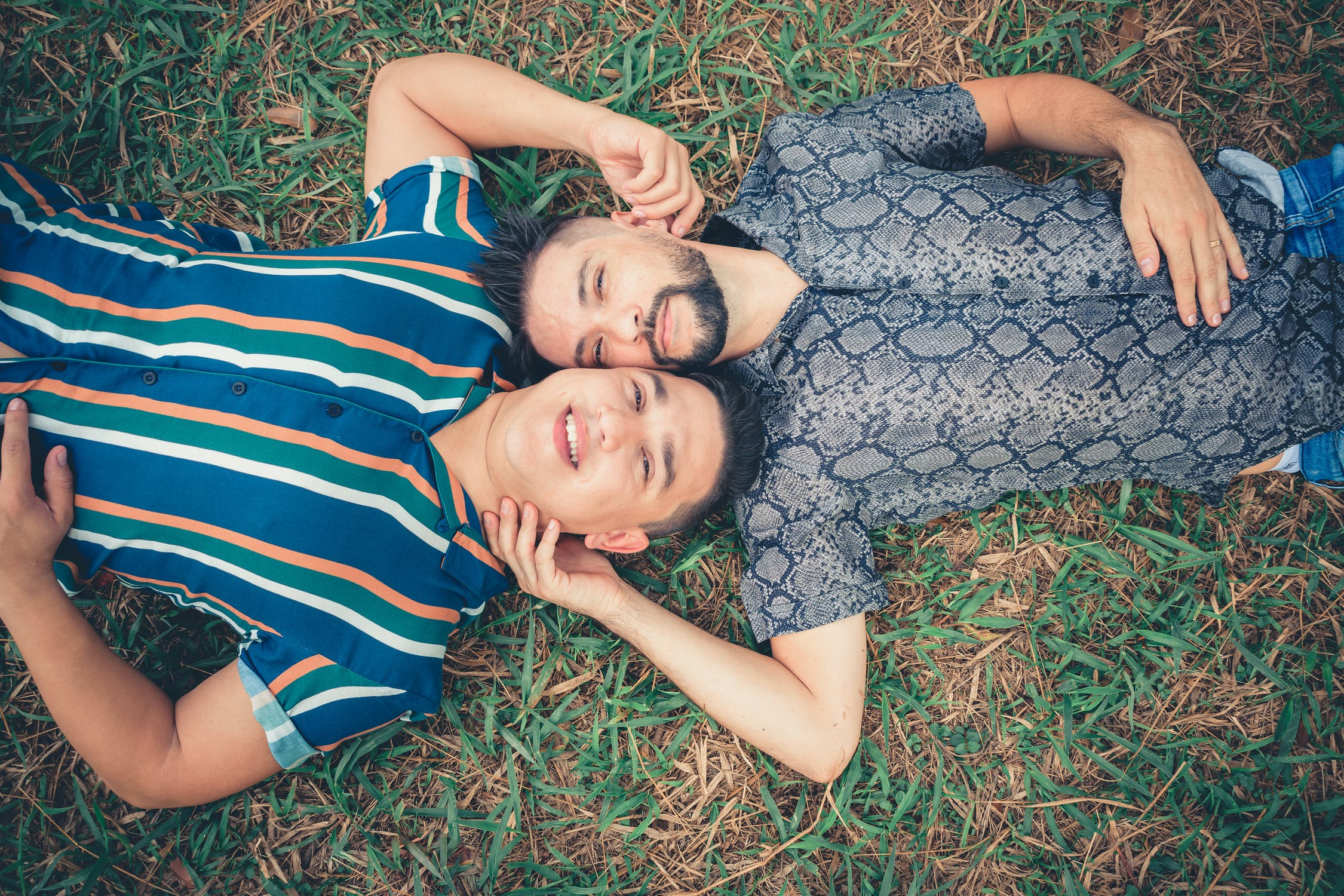 LGBT Lawyers two men in a park ready to go cottaging