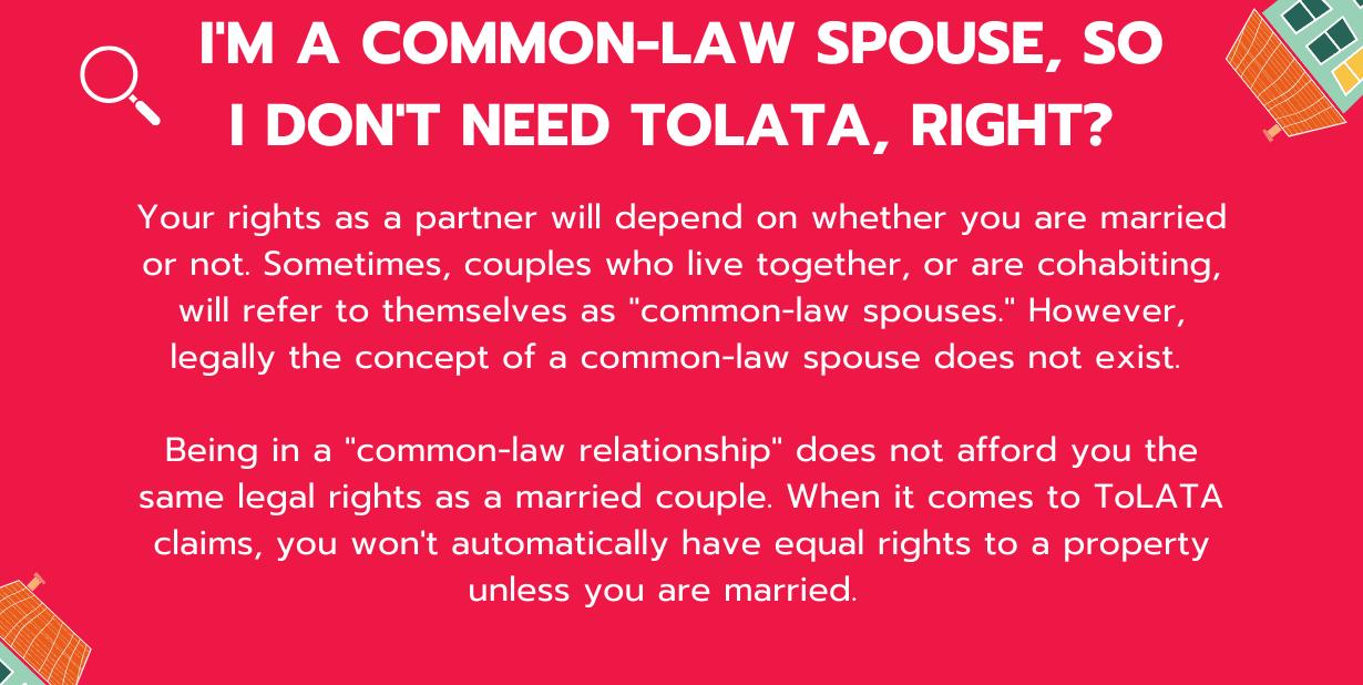 COMMON LAW SPOUSES IN TOLATA__