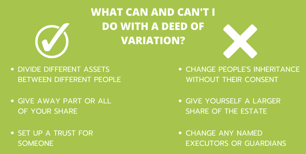 What can I do with a deed of variation (2)