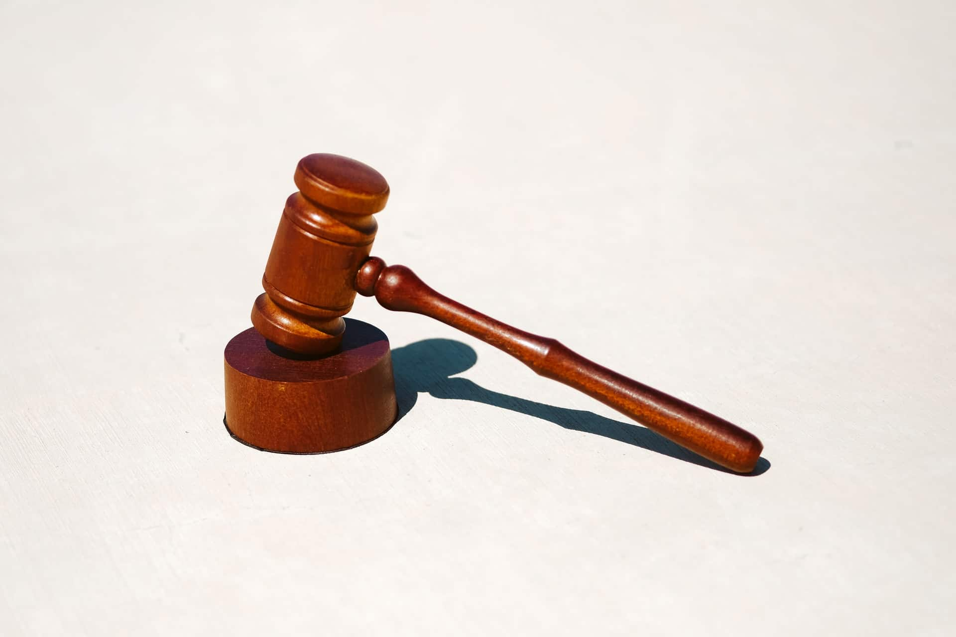 A gavel used in a court case for a community order offence